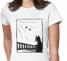 Bird watching Womens Fitted T-Shirt
