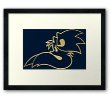 Sonic and Tails - GOTTA GOLD FAST Framed Print