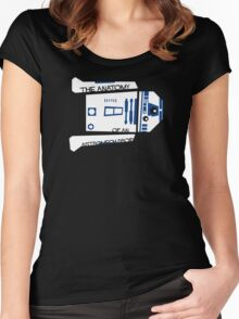 Anatomy of an Astromech Droid Women's Fitted Scoop T-Shirt