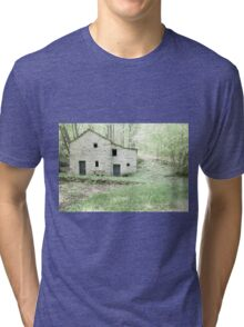 Deserted stone cottage in forest Tri-blend T-Shirt