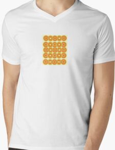 Retro Flower Mens V-Neck T-Shirt