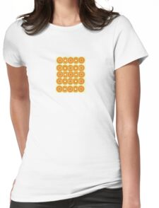 Retro Flower Womens Fitted T-Shirt