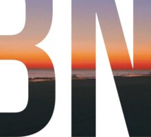 Long Beach New York Boardwalk Sunset Sticker