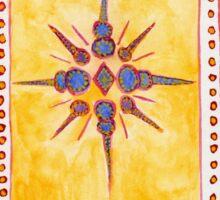 Sunset Moroccan Star Sticker