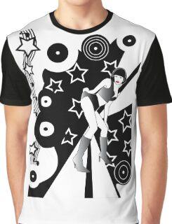 Retro Glam Discotheque Graphic T-Shirt