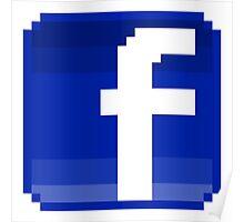 Facebook logo Poster