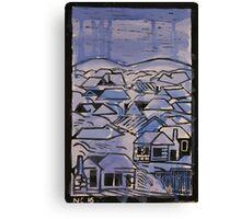 Urban country in rain Canvas Print