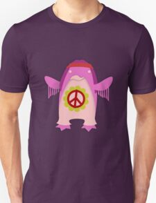 Pink Psychedelic Hippie Penguin T-Shirt