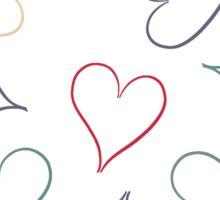 Hearts - dark blue Sticker
