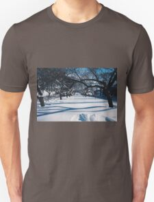 NYC Park in the Snow Unisex T-Shirt