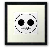 Cartoon Skull  Framed Print