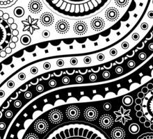 Yin Yang Symbol Paisley Style Sticker