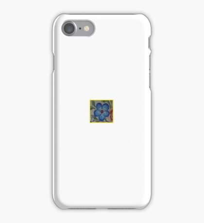 Teeny Tiny Blue Alaska Forget Me Not North Country Blue Yellow Floral Design Kirsten iPhone Case/Skin