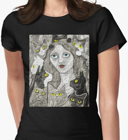 The Lady And Her Cats T-Shirt