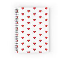 Pixel Heart Spiral Notebook