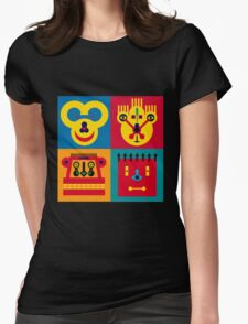 Happy Town Faces 2 Womens Fitted T-Shirt