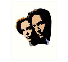Mulder and Skully Art Print
