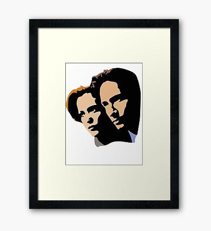 Mulder and Skully Framed Print