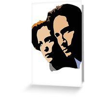 Mulder and Skully Greeting Card