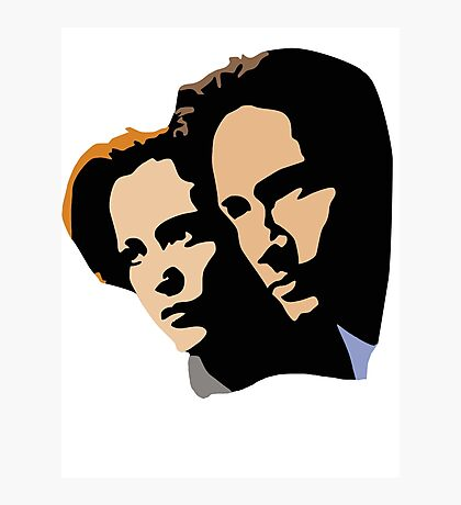 Mulder and Skully Photographic Print