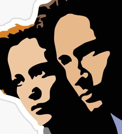Mulder and Skully Sticker