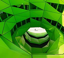 Green Spiral Building by UnitShifter