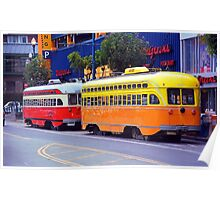 San Francisco Trolley Cars Poster