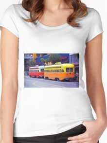 San Francisco Trolley Cars Women's Fitted Scoop T-Shirt