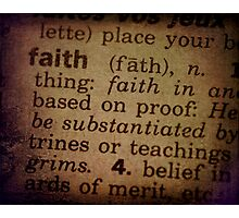Finding Meaning Faith Photographic Print