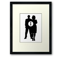Skully and Mulder Framed Print