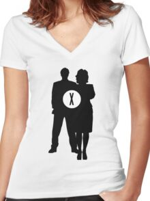 Skully and Mulder Women's Fitted V-Neck T-Shirt
