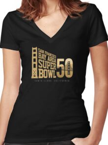 Super Bowl 50 III Women's Fitted V-Neck T-Shirt