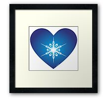 For the Love of Snow Framed Print