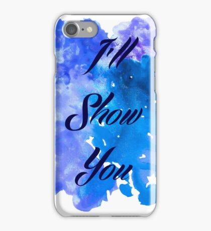 I'll Show You - Justin Bieber inspired Black iPhone Case/Skin