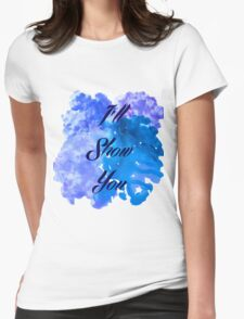 I'll Show You - Justin Bieber inspired Black Womens Fitted T-Shirt