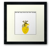 She Had Long Since Lost Her Courage Framed Print