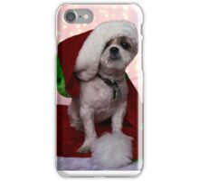 Santa Shih Tzu Puppy iPhone Case/Skin