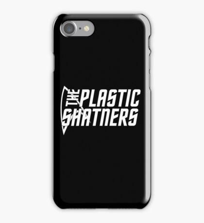 The Plastic Shatners Logo - White on Black iPhone Case/Skin