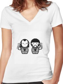 Pulpy Fiction Women's Fitted V-Neck T-Shirt