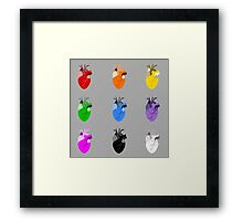 A life Dynamic in Rainbow Hearts Framed Print