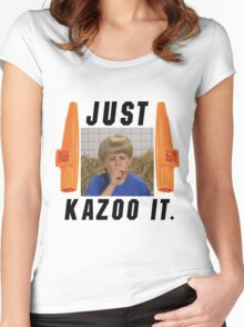 Just Kazoo it. Women's Fitted Scoop T-Shirt