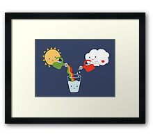 The Glass is Refillable Framed Print