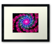Ribbon Spiral Framed Print