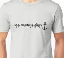 Mrs. Captain Guyliner Unisex T-Shirt