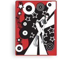 Retro Glam Discotheque Red Canvas Print