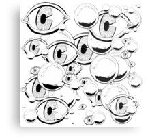 Eyes & Bubbles Metal Print