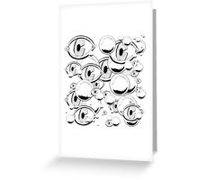 Eyes & Bubbles Greeting Card