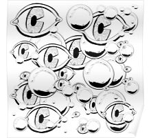 Eyes & Bubbles Poster