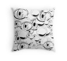 Eyes & Bubbles Throw Pillow