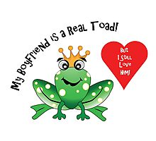 Boyfriend Toad I Still Love Him! Photographic Print